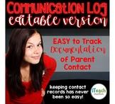 Parent Teacher Communication Log {EDITABLE}