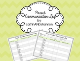 Parent-Teacher Communication Log (Clear & Concise) w/ Pare