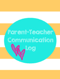 Parent/Teacher Communication Log Printable
