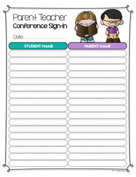 Parent Teacher Conference Forms (EDITABLE)