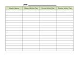 Parent Teacher Conference Action Plan