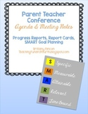 Parent Teacher Conference Agenda and Meeting Notes Form