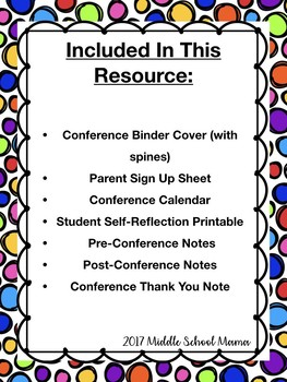 Parent Teacher Conference All-In-One Binder (Fully Editable)