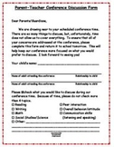 Parent Teacher Conference - Before and After Forms for Parents