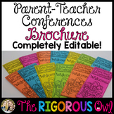 Parent Teacher Conference Brochure EDITABLE