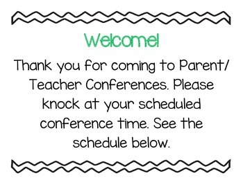 Parent/Teacher Conference Bundle