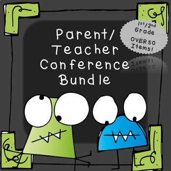 Parent Teacher Conference Forms Bundle (Over 50 items!)