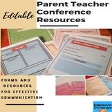 Parent Teacher Conference Bundle (EDITABLE)