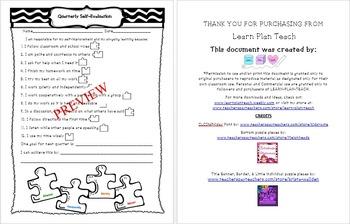 Parent Teacher Conference Bundle - Reports , Quarter Evaluation , Progress
