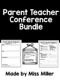 Parent Teacher Conference Bundle!  (black and white) EDITABLE!