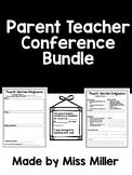Parent Teacher Conference Bundle!  (black and white) EDITABLE!