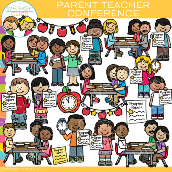 Parent Teacher Conference Clip Art by Whimsy Clips | TpT