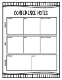 Parent-Teacher Conference Communication Sheet