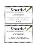 Parent Teacher Conference Confirmation Slip
