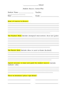 Parent / Teacher Conference Contract