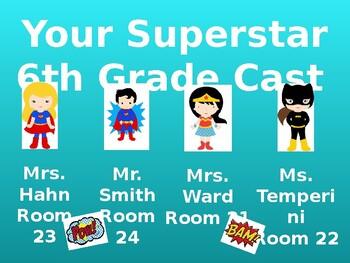 Parent Teacher Conference/Curriculum Night Slides