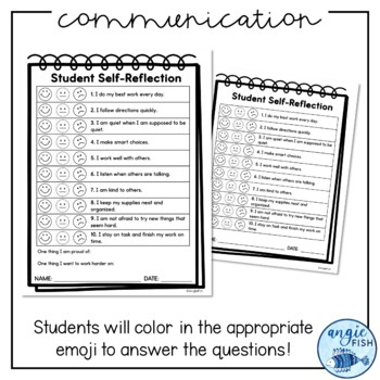 Parent Teacher Conference Strengths Template & Student Self Reflection Form