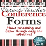 Parent-Teacher Conference Forms
