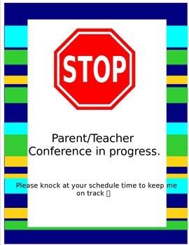 Parent Teacher Conference Door Sign