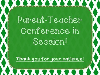 parent teacher conference door signs