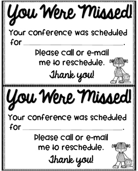 Parent Teacher Conference {Editable}