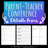Parent Teacher Conference Editable Forms