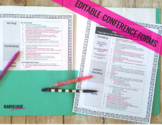 PARENT TEACHER CONFERENCE GOOGLE SLIDE EDITABLE FORMS