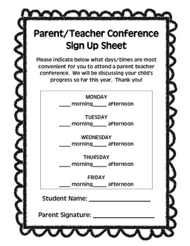 Parent Teacher Conference Essentials