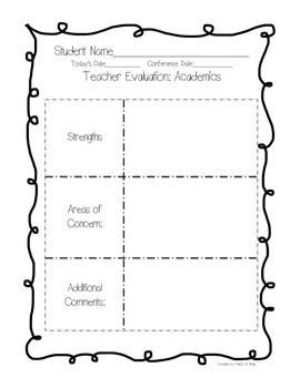 Parent Teacher Conference Evaluation Forms
