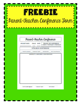 Parent-Teacher Conference FREEBIE