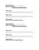 Parent-Teacher Conference Feedback Sheet