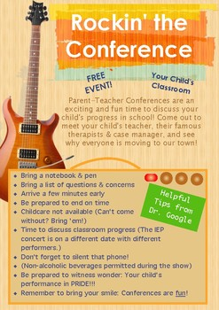 Parent Teacher Conference Flier