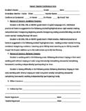 Parent Teacher Conference Form- 1st grade Skills