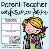 Parent-Teacher Conference Form!