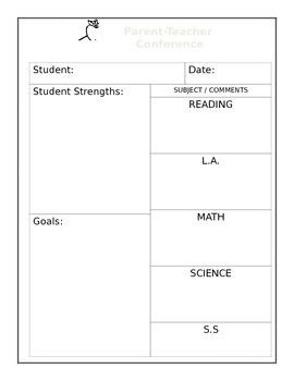 Parent-Teacher Conference Form