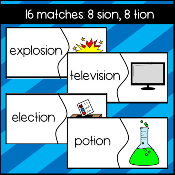 SION and TION Puzzles