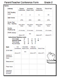 Editable Parent Teacher Conference Form