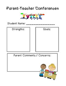 Parent- Teacher Conference Form