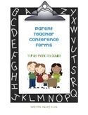 Parent Teacher Conference Form Bundle