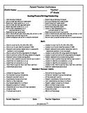 Parent-Teacher Conference Form- CCSS Goals (For B-O-Y, M-O