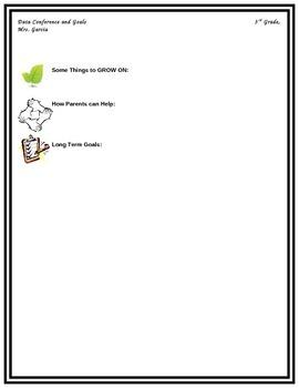 Parent Teacher Conference Form-Data