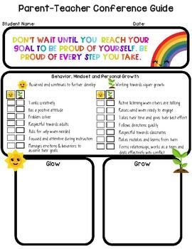 Parent Teacher Conference Form - EDITABLE