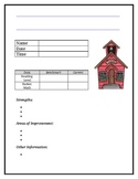 Parent Teacher Conference Form ~ Editable