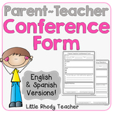 Parent Teacher Conference Form FREEBIE