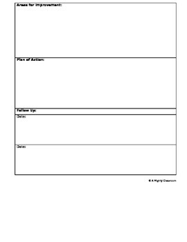 Parent-Teacher Conference Form - Great for 2nd Conferences!!