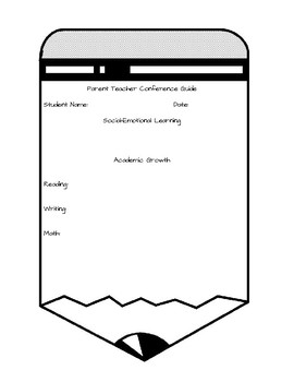 Parent Teacher Conference Form Including SEL