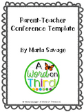 Parent-Teacher Conference Form Template
