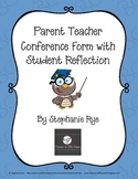 Parent Teacher Conference Form With Student Reflection