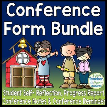 Parent Teacher Conference Form Bundle: 5 Forms Included an