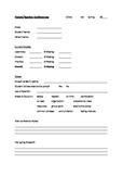 Parent-Teacher Conference Form for Foreign Language Teachers
